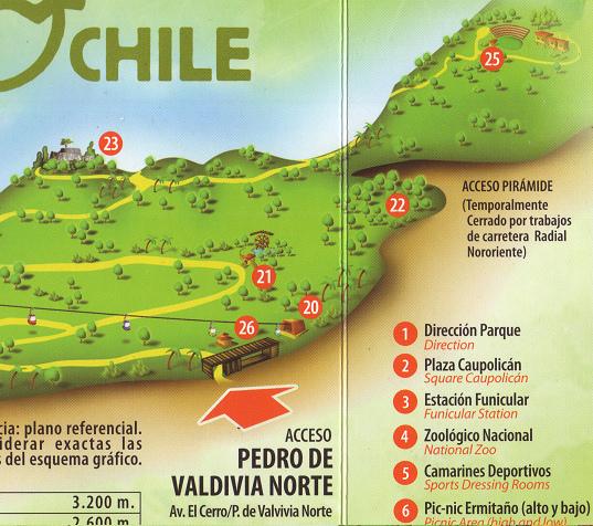 7 el parque urbano metropolitano de santiago de chile for Jardin japones de santiago